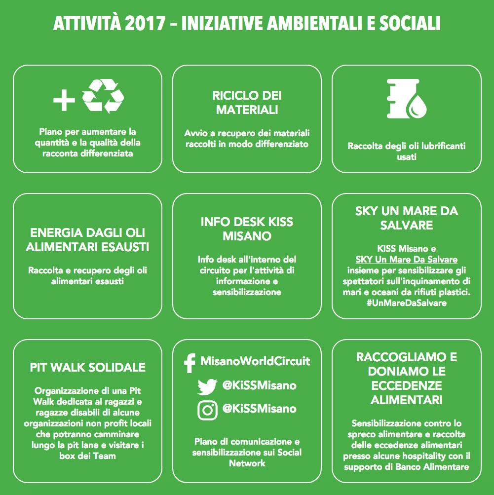 ATTIVITÀ 2017 – INIZIATIVE AMBIENTALI E SOCIALI
